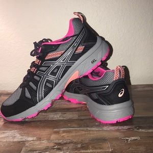 ASICS Running Gym Shoes - Grey and Pink
